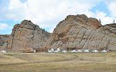 Yurt recreation in Terelj National Park, Mongolia