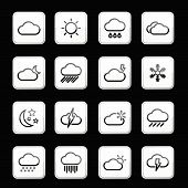 Weather App Icon Set. Vector