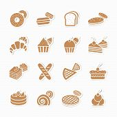 Bakery Icon Set. Vector