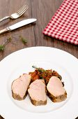 Roasted Pork Fillet In Vertical Format