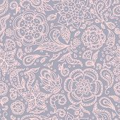 Seamless abstract floral pattern or pink grey background