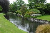 stock photo of avon  - Picture of the view of Avon River at Christchurch New Zealand - JPG