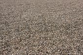 foto of sand gravel  - good texture from gravel and sand in perspective - JPG