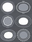 Decorative Circle Labels Suitable For Design, Vector