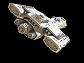 pic of spaceships  - Science fiction spaceship isolated on a black background - JPG
