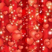 Valentinstag Rubin Herzen (seamless Pattern)