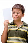 Boy With Blank Card 2