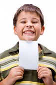 Boy With Blank Card 3
