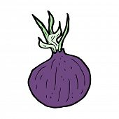 cartoon red onion