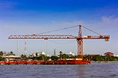 Construction Site Near Chao Phraya River