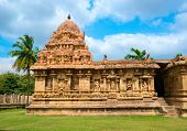 stock photo of chola  - Great architecture of Hindu Temple dedicated to Shiva ancient Gangaikonda Cholapuram Temple India Tamil Nadu Thanjavur  - JPG