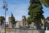 The Graveyard at Carcassonne Castle, France.