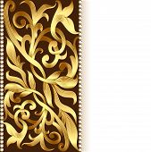 background and ornament of gold