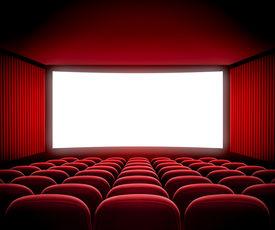 picture of cinema auditorium  - cinema movie screen - JPG