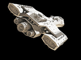 picture of spaceships  - Science fiction spaceship isolated on a black background - JPG