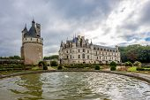 View At The West Side Chenonceau Chateau From Garden