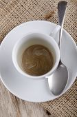 Empty Coffee Cup With A Spoon