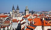 Telhados vermelhos de Old Town Prague