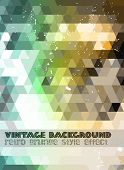 Vintage RetroDesign flyer template. Abstract background to use for music event posters ,album covers or hipster backgrounds.