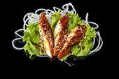 Eel sashimy