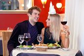Young Sweet Lovers Making Fun During Date