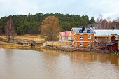 Finland. At Home On The Riverside Porvoo