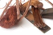 stock photo of plunder  - copper becomes very expensive and plunderings of electric cables become a problem - JPG