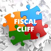 Fiscal Cliff on Multicolor Puzzle.