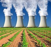 chimneys of nuclear power plants