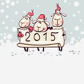 card 2015 with the ram goat
