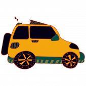 Color cartoon car .