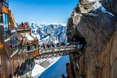 Chamonix Mont Blanc,France, 2 Agust,2013:Aiguille Du Midi Platform