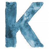 Watercolor vector capital letter K