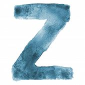 Watercolor vector letter Z