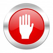 stop red circle chrome web icon isolated