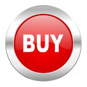 buy red circle chrome web icon isolated