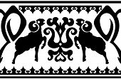 Seamless ethnic ornament with aries