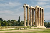 picture of olympian  - Greek columns Temple of Olympian Zeus Athens - JPG
