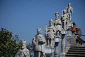 stairway of statues