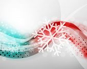Christmas blur wave and snow abstract background