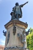 Christopher Columbus Statue, Parque Colon, Santo Domingo, Caribbean