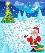 Maze 11 with Santa Claus - eps10 vector illustration.