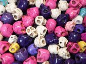 colorful skull pile