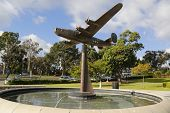 B-24 Liberator Sculpture at the Air Garden in Veterans Memorial Garden at Balboa Park in San Diego