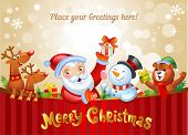 stock photo of xmas star  - Christmas background with Santa Claus - JPG