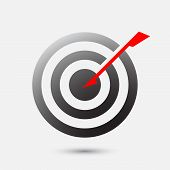 Arrow Hit Bulls Eye On Target - Business Goal