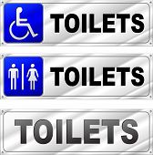 Toilets Design Signs