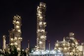 Oil Petrochemical refinery Factory, Plant on night