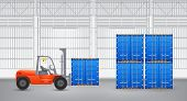 Forklift And Container
