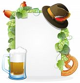 Oktoberfest Background With Food And Drink